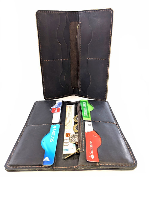 Two large style Wallet Large Capacity Purse Cell Phone Pocket multi pockets