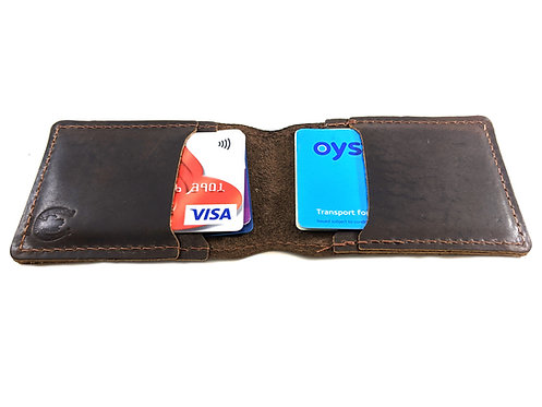 Oyster Card Holders Handmade with Hunter Leather