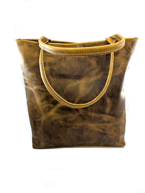 Large Tote shopper leather bag / country style leather bag