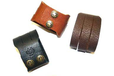 Leather Wristband 3 Cord Design in Various Colours