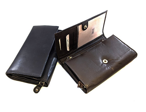 women's large leather multifunction  clutch / wallet