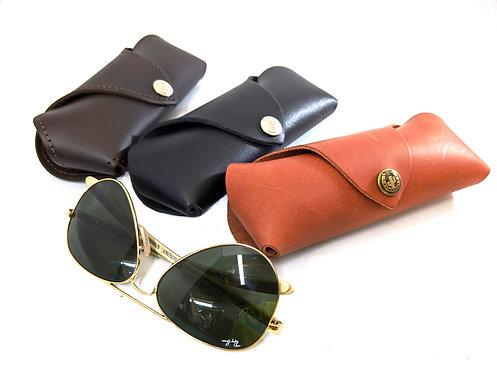 Premium leather Handmade eye & sun-glasses protective case