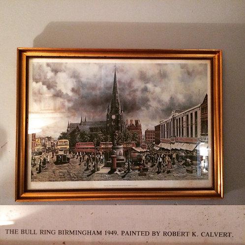 Circa 1949 Birmingham Bull Ring Print