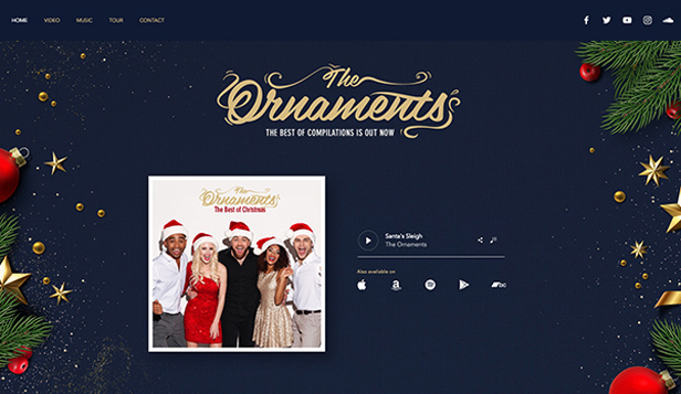 Music website templates – Christmas Music Band