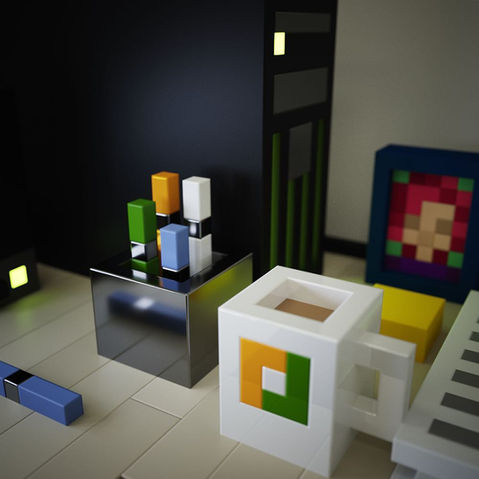 Voxel Render of Workspace