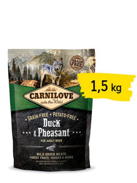 Carnilove adult anatra e fagiano 1,5 kg