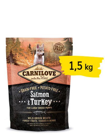 Carnilove puppy large salmone e tacchino 1,5kg
