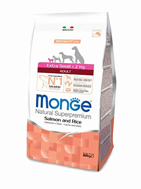 Monge extra small adult salmone e riso 800g
