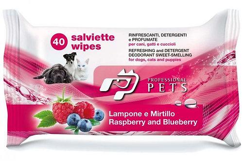 Salviette detergenti Professional Pets 1 pacco da 40 salviette