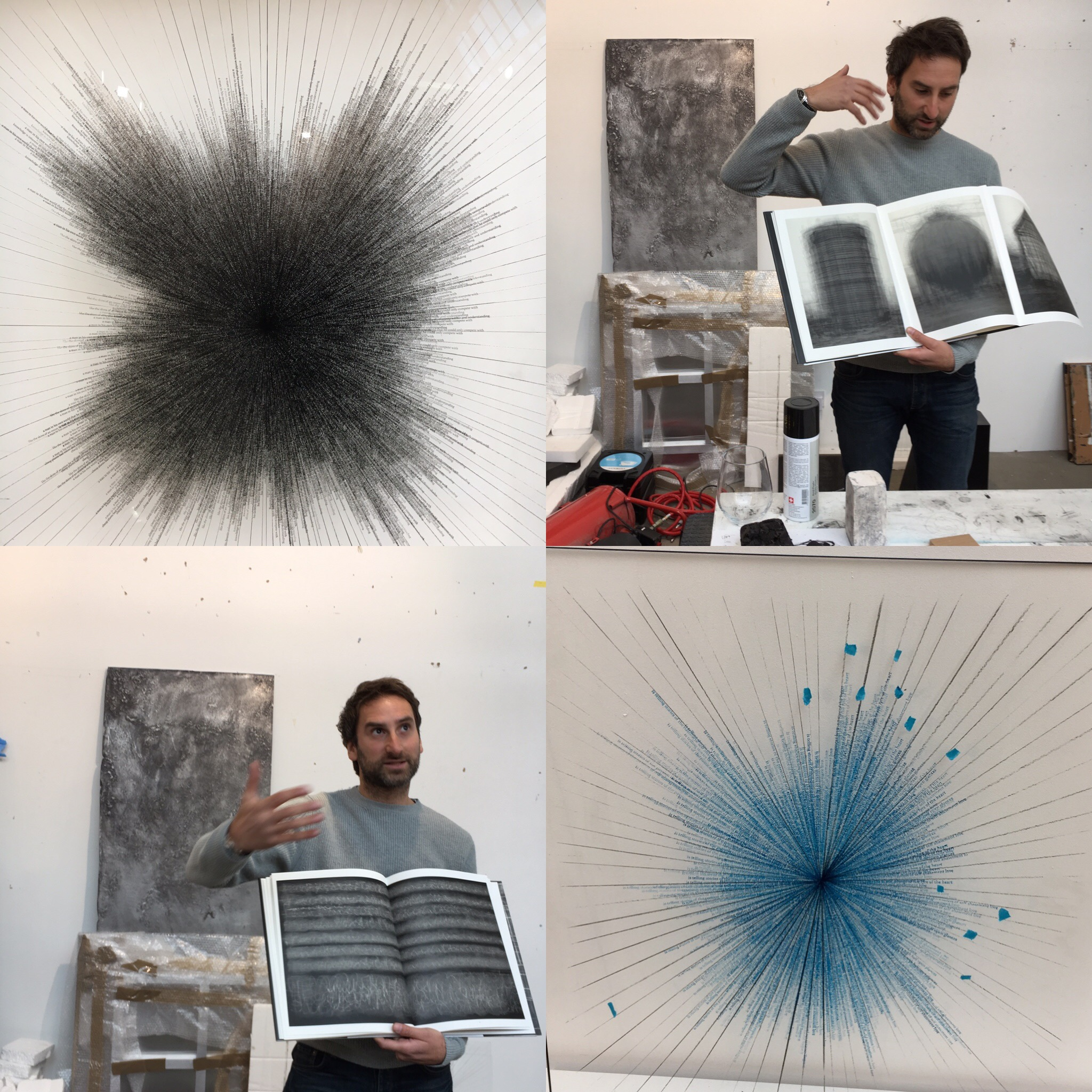 23.01.17- Idris Khan studio visit
