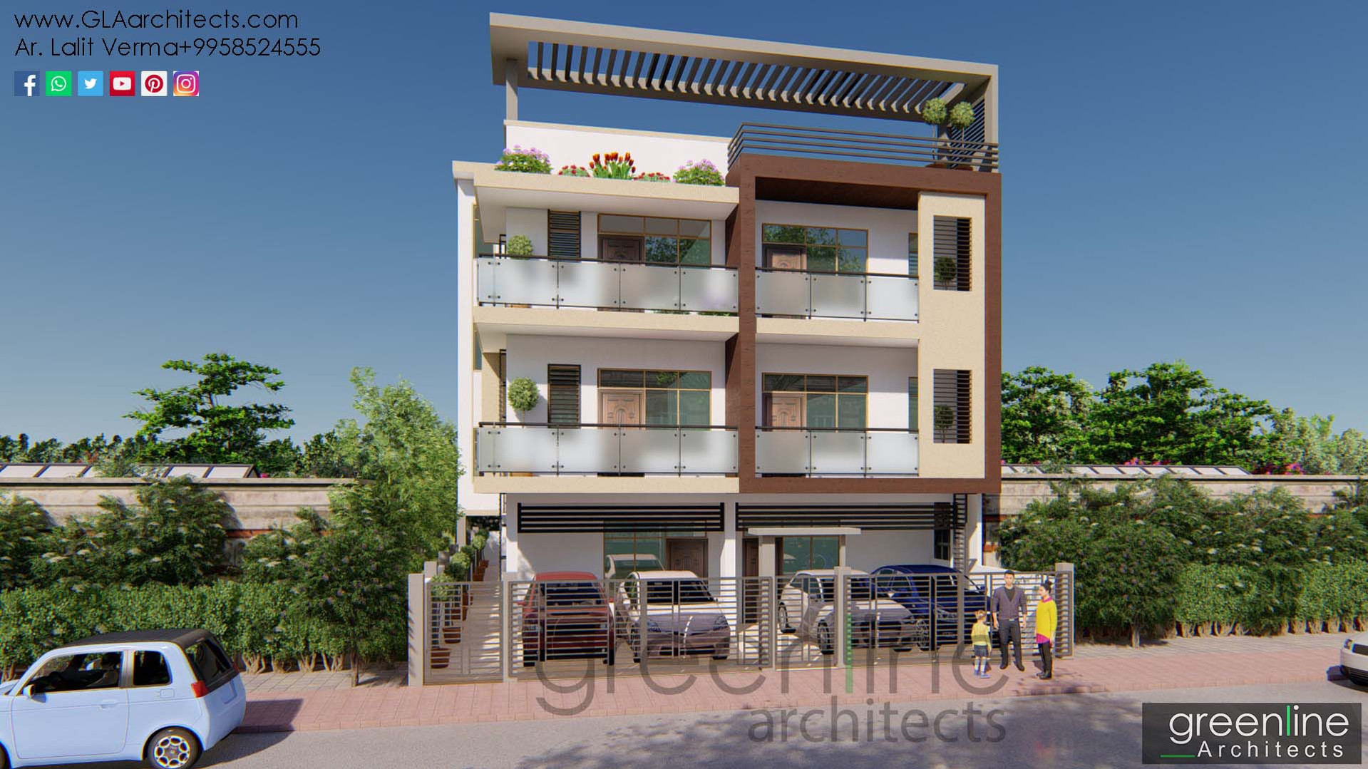 40X80 feet House Design in Lucknow (2).j40 X 80 feet House Design in Lucknow