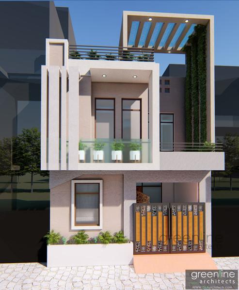 900 sqft House Design in Gomti Nagar, Lucknow