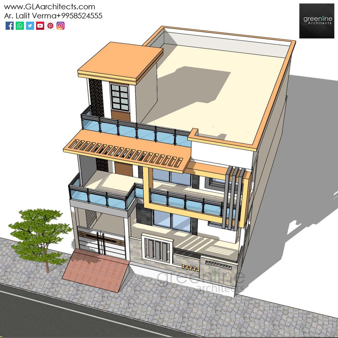 35X70 Feet House Design in Ansal (10).jp