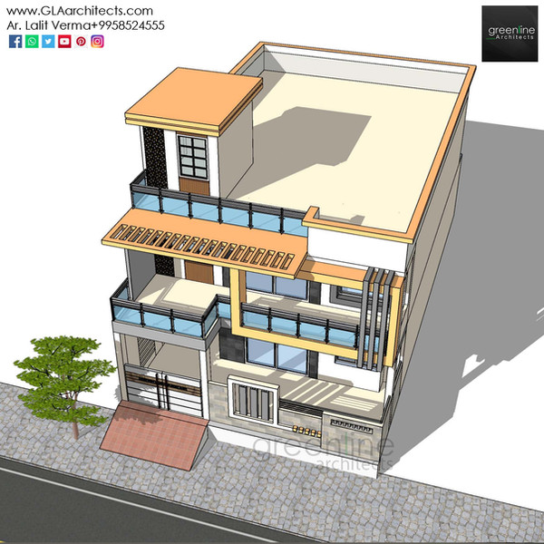 35X70 Feet House Design in Ansal (10).jp