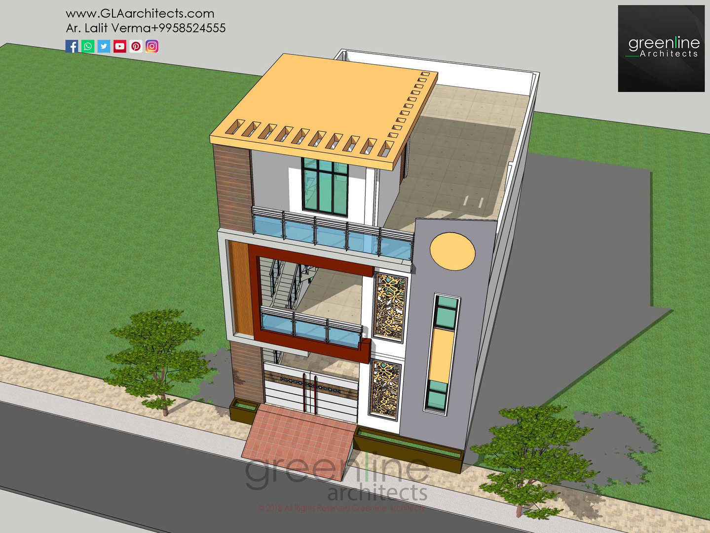25 X 40 feet House Design at Takrohi, Lucknow
