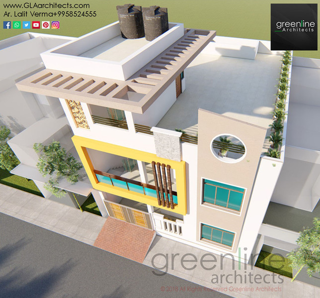 30 X 40 feet House Design at Sultanpur Road, Lucknow