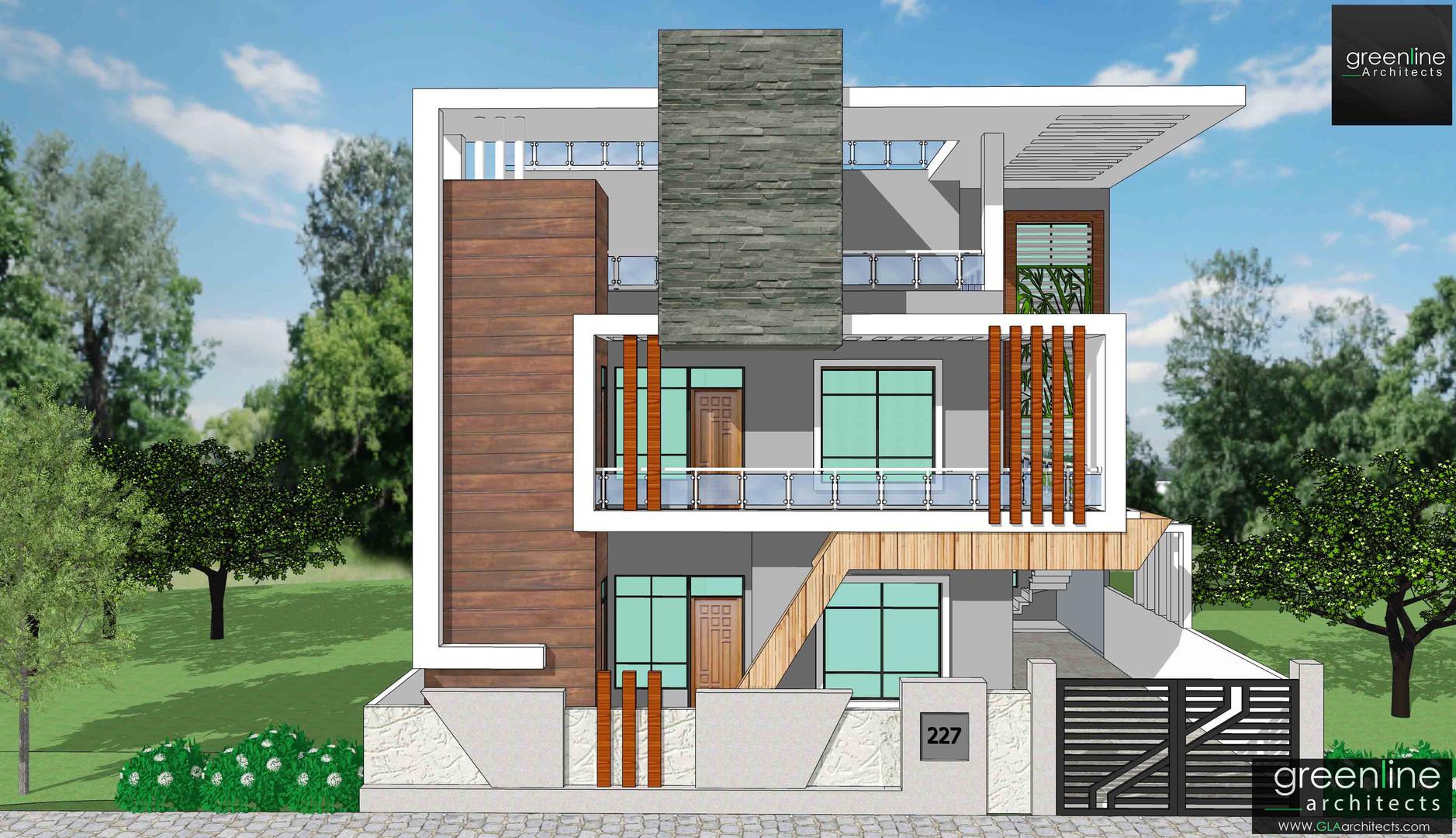 40 X 80 feet house design in Gomti Nagar, Lucknow