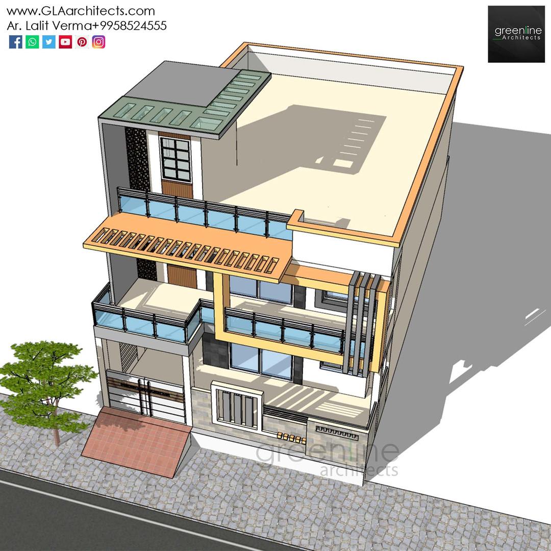 35X70 Feet House Design in Ansal (2).jpg