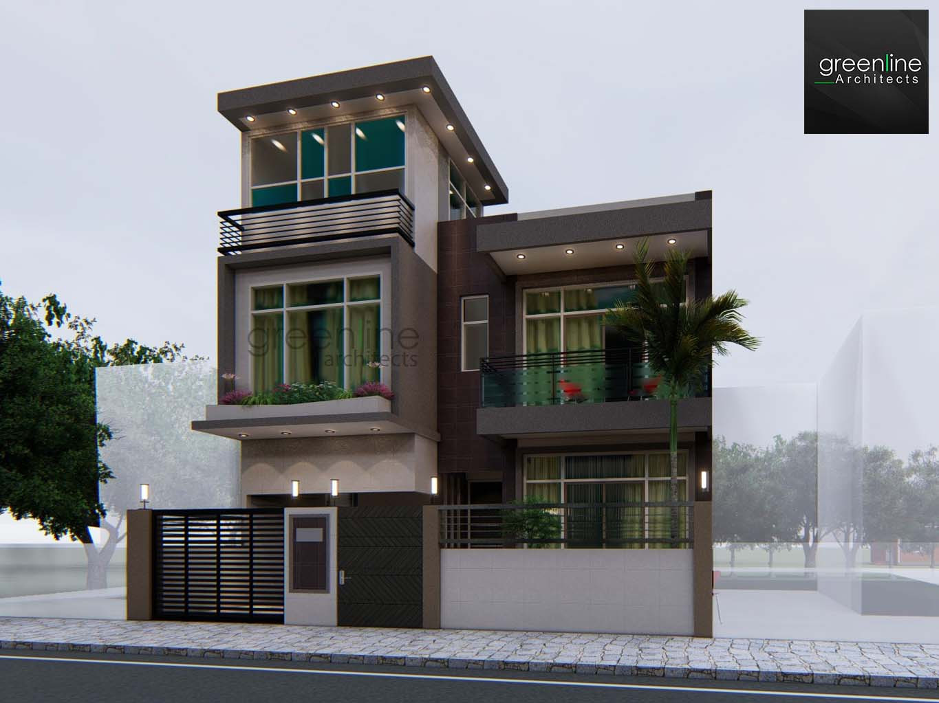 30X50 feet House Design Wing Lucknow Greens Plots in Sultanpur Road