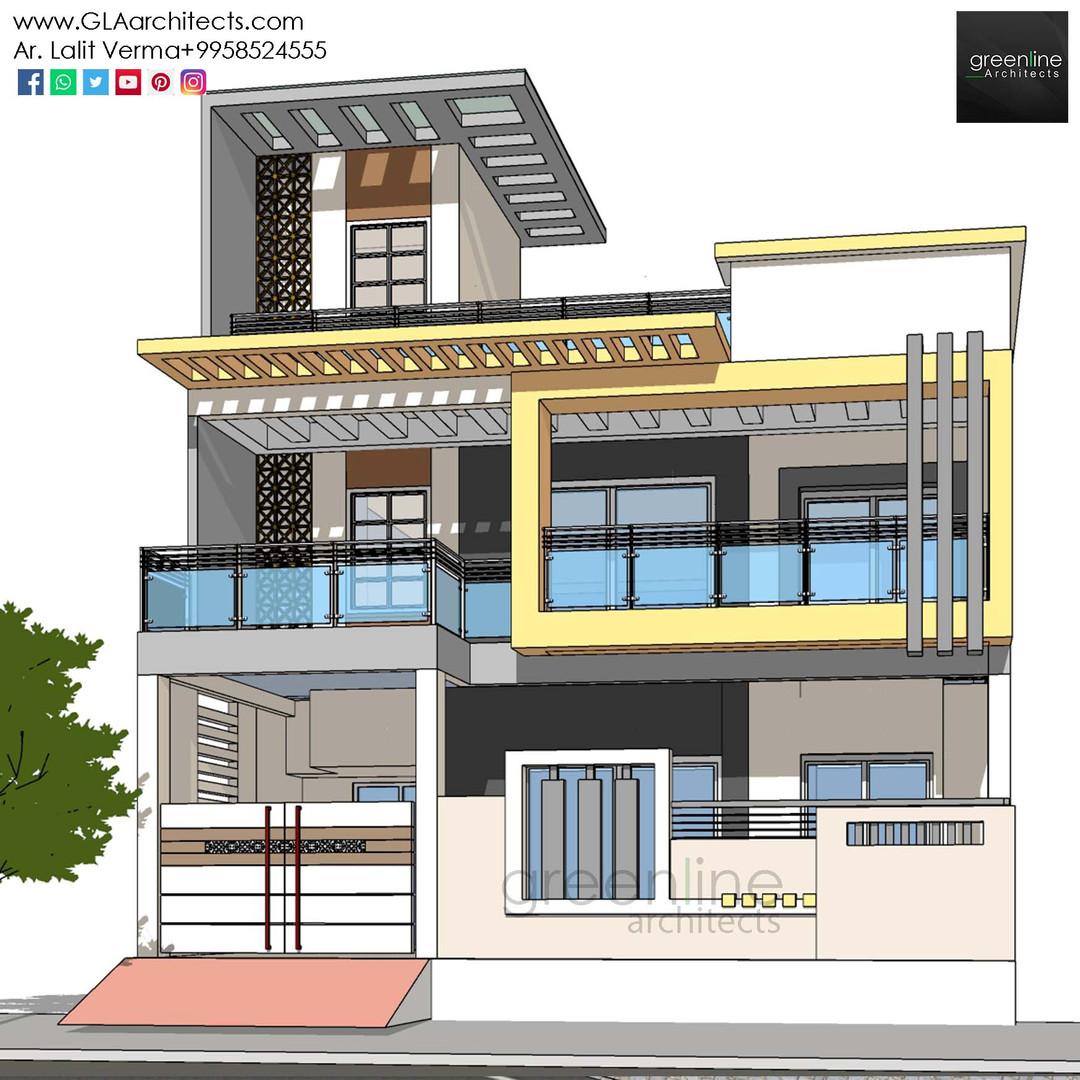 35X70 Feet House Design in Ansal (1).jpg