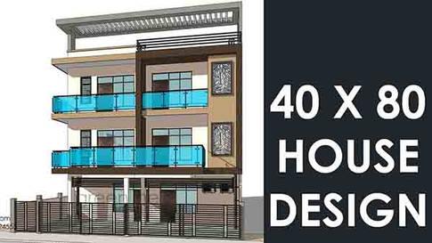 40X80 feet House Design