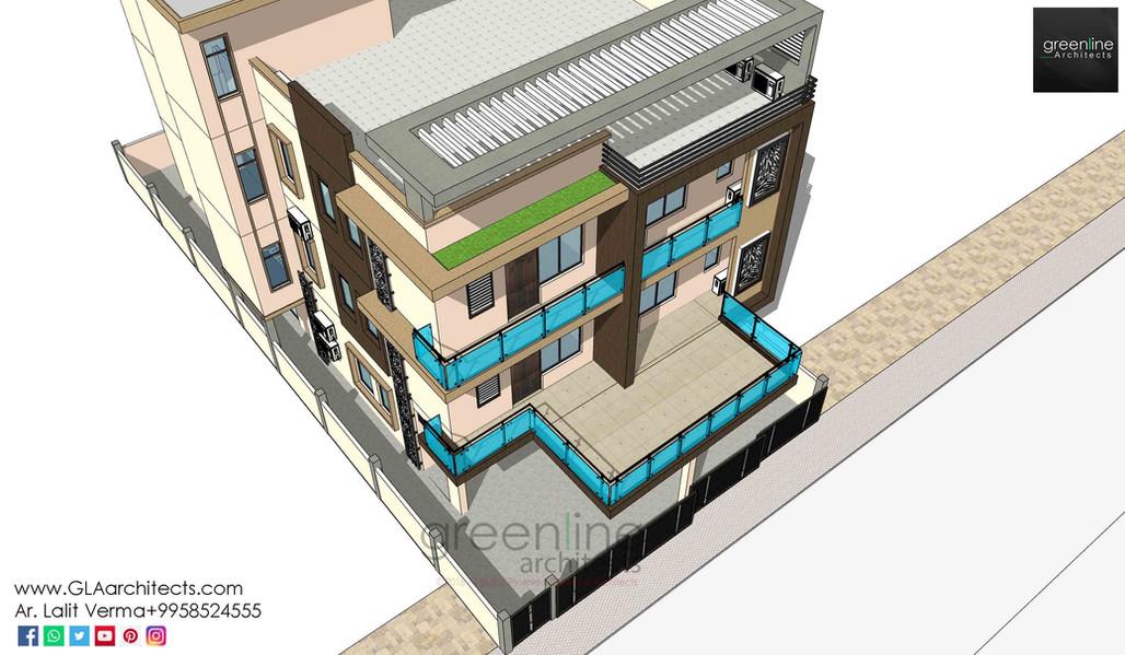 40 X 80 feet house design at Jhansi