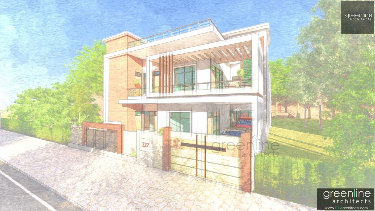 40 X 80 feet house design in lucknow
