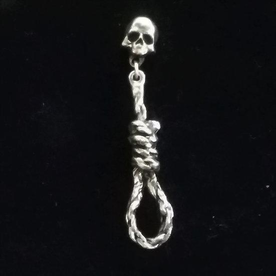 Alchemy Gothic England E256 Hang Man's Noose Stud Earring SINGLE
