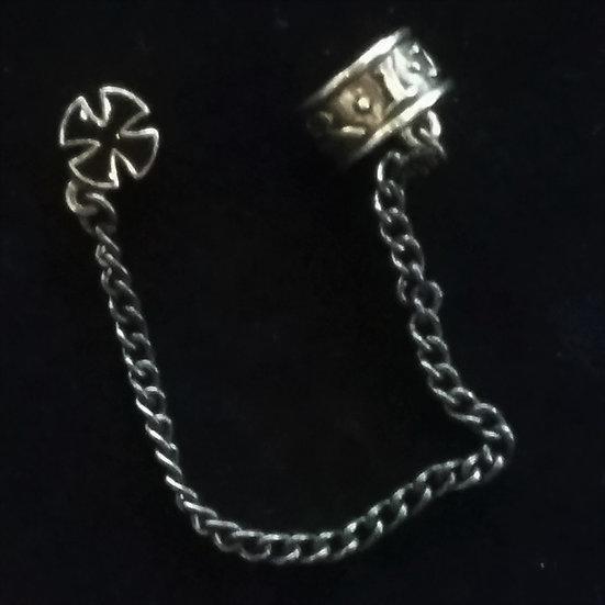 Alchemy Gothic England E317 Iron Cross RIP Stud Earring SINGLE