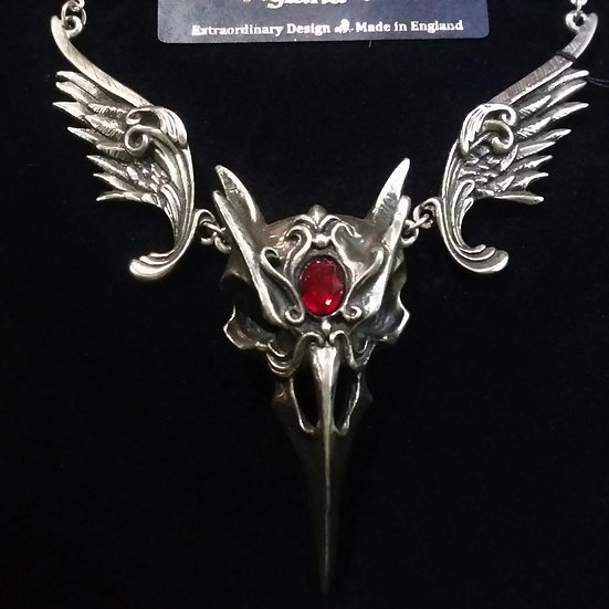 Alchemy Gothic England P798 Masque of the Black Rose Necklace Pendant