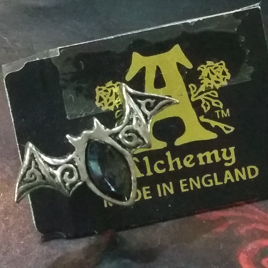 Alchemy Gothic England E394 Viennese Night Stud Earring SINGLE