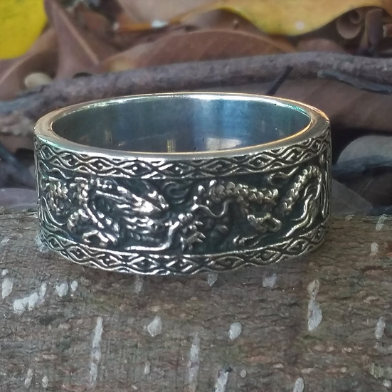 Authentic ORIENTAL VIBRATIONS Dragon Ring 925 Sterling Silver