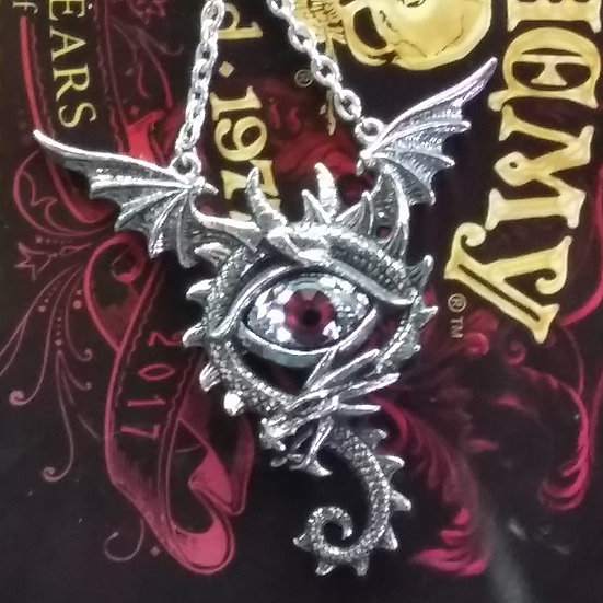 Alchemy Gothic England P832 Eye of the Dragon Necklace Pendant