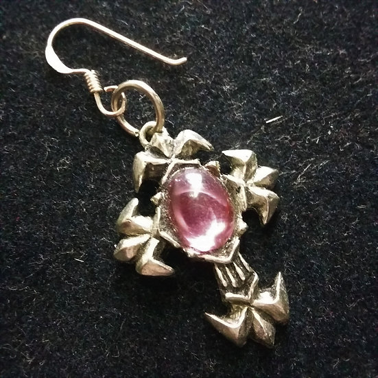 Alchemy Gothic England E170 Fleury Cross Earring SINGLE
