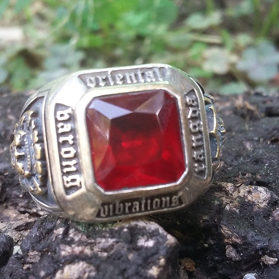 Authentic ORIENTAL VIBRATIONS BALI INDONESIA 925 Sterling SILVER RING