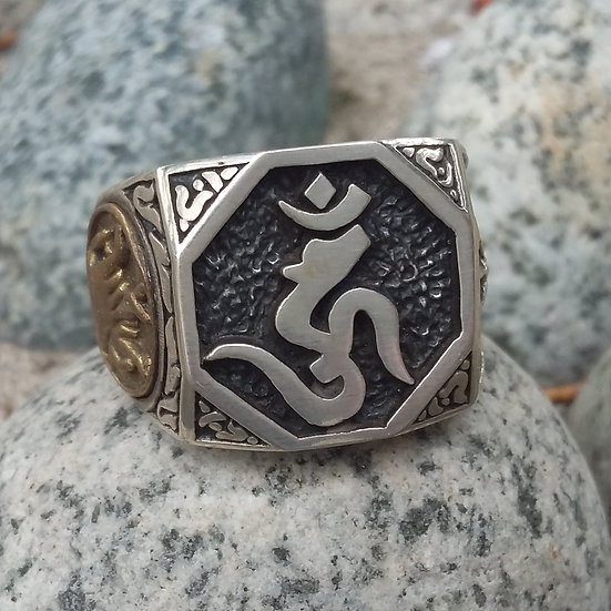 Authentic Good Vibrations JAPAN BUDDHA ACALA GOD 925 Sterling SILVER RIN