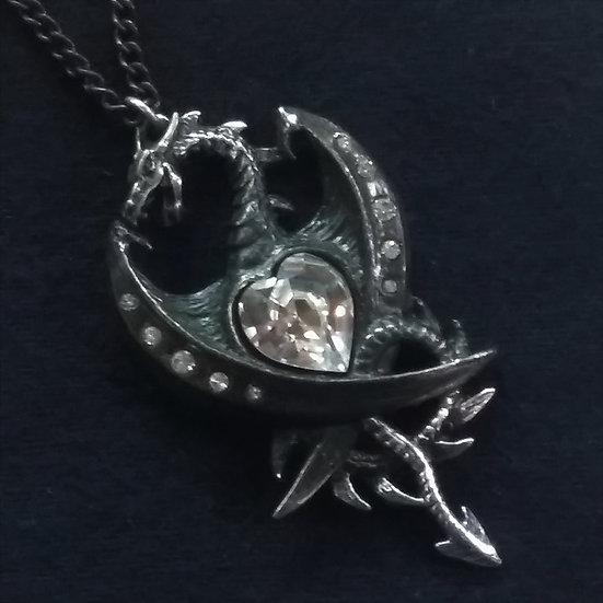 Alchemy Gothic England P609 Diamond Heart Pendant