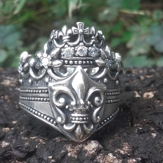 Royal Crown Ring 925 Sterling Silver
