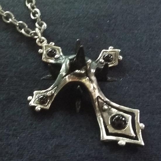 Alchemy Gothic England P570 Caltrop Cross Pendant