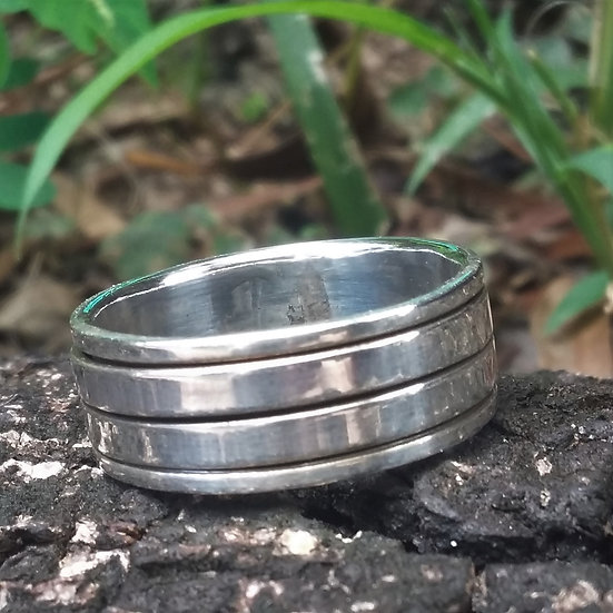 Spinning Simple Band Ring 925 Sterling Silver