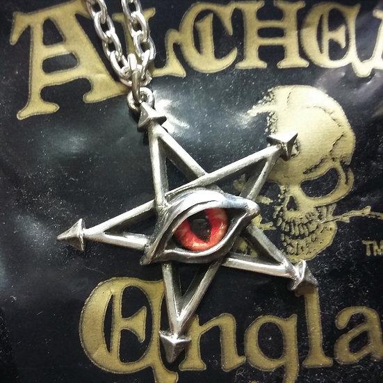 Alchemy Gothic England P805 Red Curse Pendant