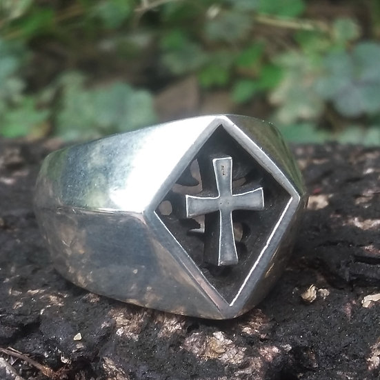 Heavy & Chunky Cross Ring 925 Sterling Silver