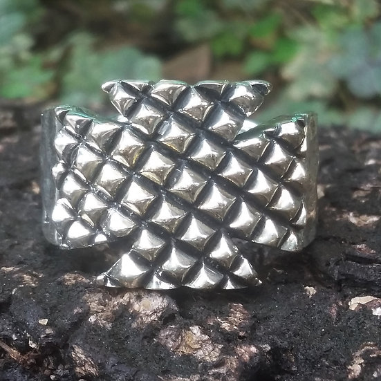 Textured Cross Ring 925 Sterling Silver