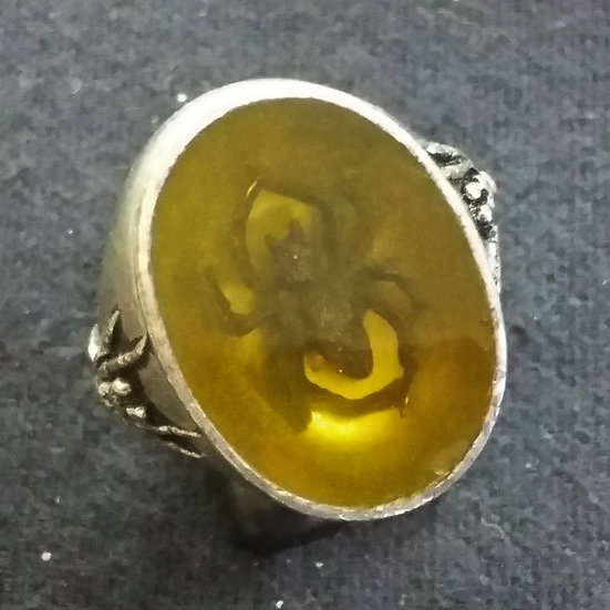 Alchemy Gothic England R94 Amber Tomb Ring