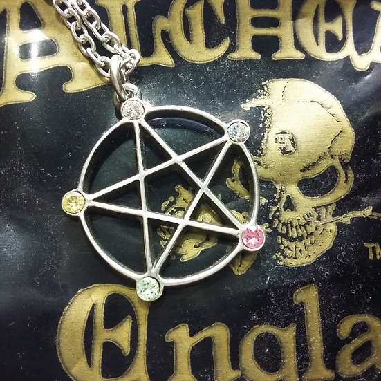 Alchemy Gothic England P786 Wiccan Elemental Pentacle Pendant
