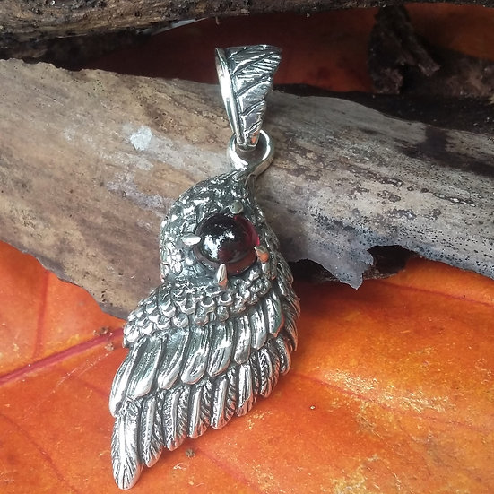 Wild Eagle Wing 925 Sterling Silver Pendant