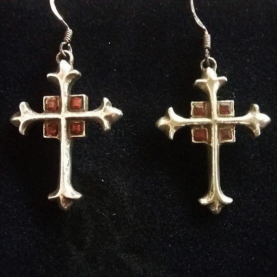 Alchemy Gothic England E211 Alter Cross Earrings PAIR