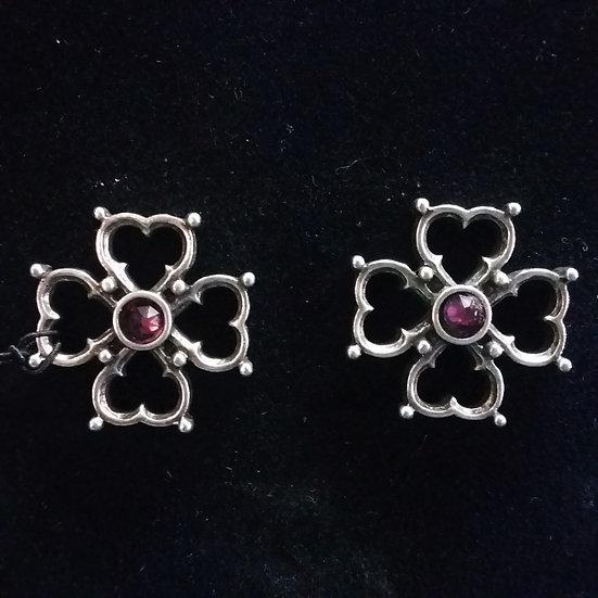Alchemy Gothic England E366 Elizabethan Cross Studs Earrings PAIR