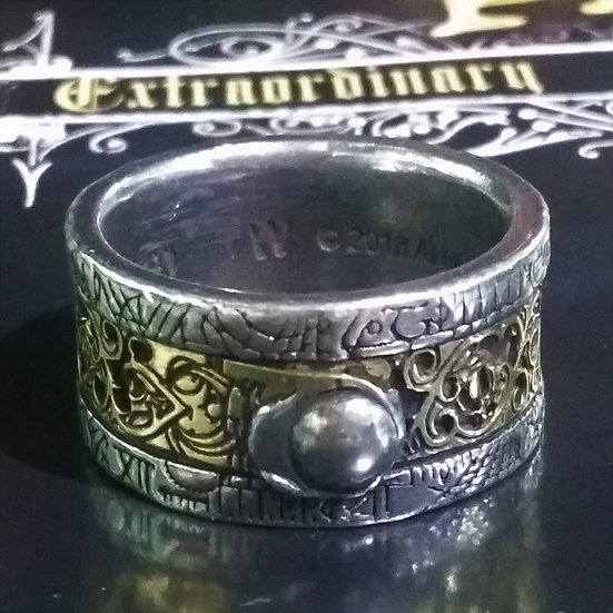 Alchemy Gothic England R44 Induction Principle Ring