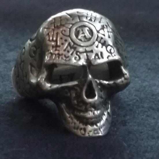 Alchemy Gothic England R122 Omega Skull Ring